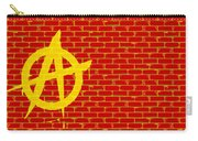 Anarchy Graffiti Red Brick Wall Carry-all Pouch