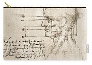 Anatomical Drawing By Leonardo Da Vinci Carry-all Pouch