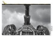 Ancient Cannon In Black And White Carry-all Pouch