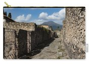 Ancient Pompeii - Empty Street And Mount Vesuvius Volcano That Caused It All Carry-all Pouch