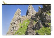 Ancient Steps Leading To Celtic Monastery, Skellig Michael, County Kerry, Ireland Carry-all Pouch