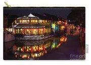Ancient Style Restaurant On Water By Stone Bridge Carry-all Pouch