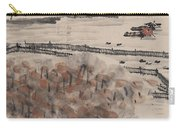 Ancient Town River Paintingancient Town River Painting Carry-all Pouch