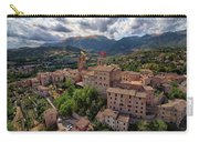 Ancient Village Of Sarnano Italy, Marche, Macerata - Aerial View Carry-all Pouch