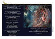 And She Cried - Poetry In Art Carry-all Pouch