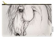 Andalusian Horse Portrait 2015 12 08 Carry-all Pouch