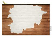 Andorra Rustic Map On Wood Carry-all Pouch