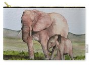 Andrea's Elephants Carry-all Pouch