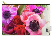 Anemones And Roses Carry-all Pouch