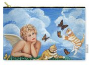 Angel And Kittens Carry-all Pouch