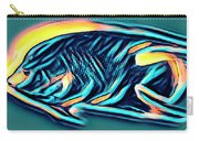 Angel Fish In Turquoise Tones Carry-all Pouch