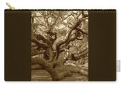 Angel Oak In Sepia Carry-all Pouch