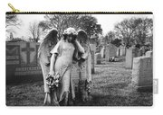 Angel On The Ground At Calvary Cemetery In Nyc New York Carry-all Pouch