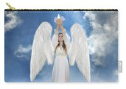 Angel Releasing A Dove Carry-all Pouch by Jill Battaglia