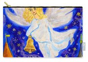 Angel With Christmas Bell Carry-all Pouch