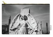 Angel With Outspread Wings And Other Angels In The Background Carry-all Pouch