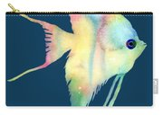 Angelfish I - Solid Background Carry-all Pouch