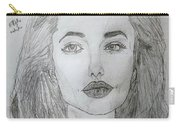 Angelina Jolie Pencil Art Carry-all Pouch