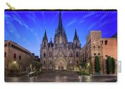 Angels Flying In Front Of The Cathedral Of The Holy Cross And Sa Carry-all Pouch