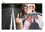 Angry Business Woman Expressing Road Rage Carry-all Pouch
