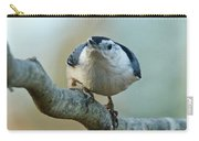 Angry White Breasted Nuthatch Carry-all Pouch