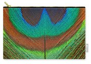 Animal - Bird - Peacock Feather Carry-all Pouch