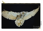 Animal - Bird - Great Horned Owl Wings Spread Carry-all Pouch