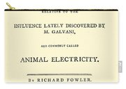 Animal Electricity, Title Page Carry-all Pouch