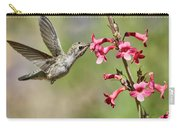 Anna's Hummingbird And The Penstemon  Carry-all Pouch