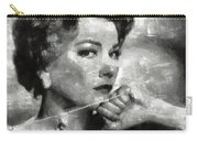 Anne Baxter Vintage Hollywood Actress Carry-all Pouch
