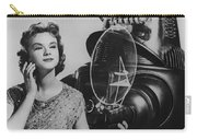 Anne Francis Movie Photo Forbidden Planet With Robby The Robot Carry-all Pouch