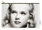 Anne Francis, Vintage Actress By John Springfield Carry-all Pouch