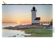 Annisquam Lighthouse Sunset Vertical Carry-all Pouch