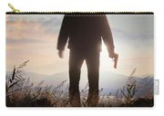 Anonymous Man In Silhouette Holding A Gun Carry-all Pouch