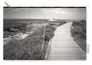 Another Asilomar Beach Boardwalk Black And White Carry-all Pouch