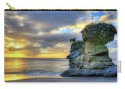 Anse Mamin Rock Formation At Sunset Saint Lucia Caribbean Sunset Carry-all Pouch