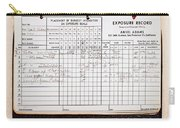 Ansel Adams Photography Exposure Record Log Carry-all Pouch