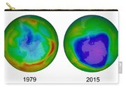 Antarctic Ozone Hole, 1979 And 2015 Carry-all Pouch