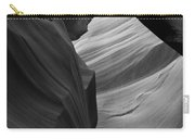Antelope Canyon Erosions Bw Carry-all Pouch