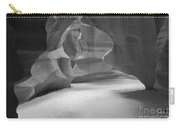 Antelope Slot Canyon Black And White Carry-all Pouch