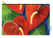 Anthurium Flowers #272 Carry-all Pouch