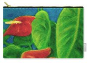 Anthurium Flowers #296 Carry-all Pouch