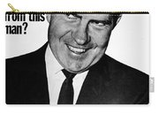 Anti-nixon Poster, 1960 Carry-all Pouch by Granger