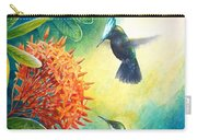 Antillean Crested Hummingbirds And Ixora Carry-all Pouch
