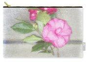 Antique Camellias Square Carry-all Pouch