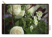Antique Floral Arrangement Framed Carry-all Pouch