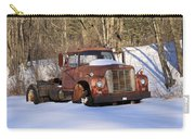 Antique Grungy Truck In Snow Carry-all Pouch