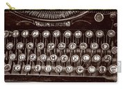Antique Keyboard - Sepia Carry-all Pouch