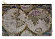 Antique Map Exotic Colorful Carry-all Pouch