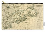 Antique Map Of Eastern Canada Carry-all Pouch
